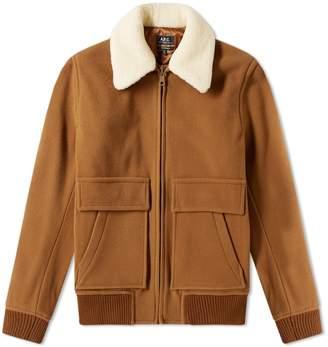 A.P.C. Bronze Shearling Wool Jacket
