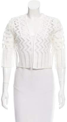 Milly Embroidered Open Cardigan