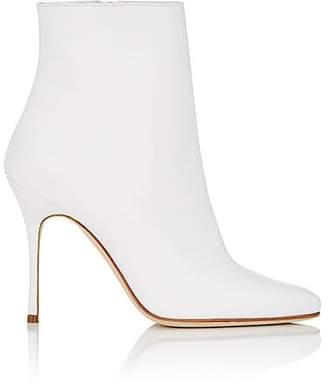 Manolo Blahnik Women's Insopo Leather Ankle Boots - White Leather