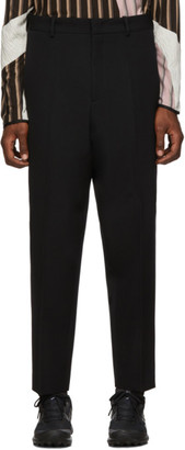 Jil Sander Black Cropped High Waist Trousers