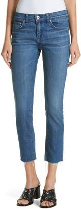 Rag & Bone The Dre Crop Fray Hem Slim Fit Boyfriend Jeans