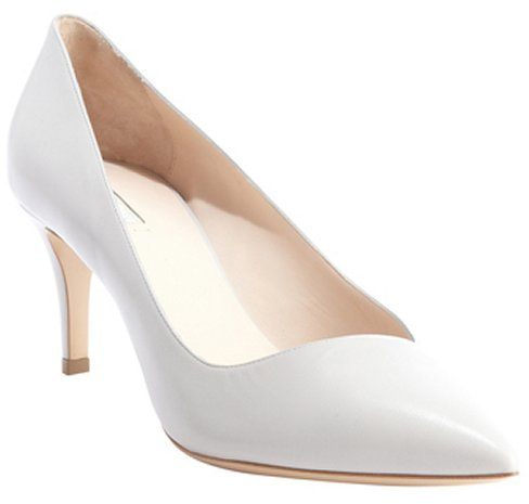 Armani pearl leather pointed toe pumps