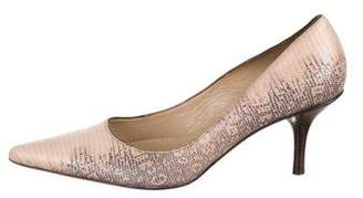 MICHAEL Michael Kors Pointed-Toe Embossed Pumps
