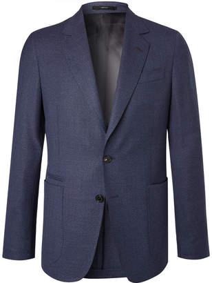 Paul Smith Blue Soho Slim-Fit Mélange Wool Blazer