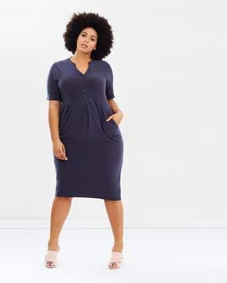 Evans Short Sleeve Side Pocket Dress