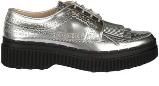 Tod's Tod`s Fringed Platform Lace-up Shoes