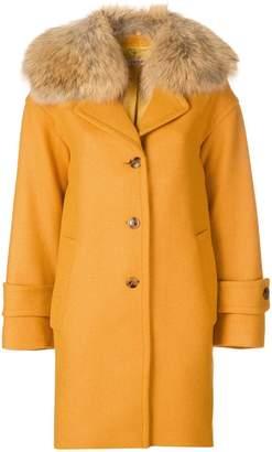 Twin-Set single breasted fur coat
