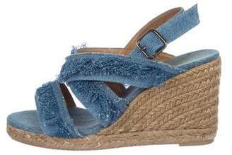 Castaner Denim Ankle Strap Sandals