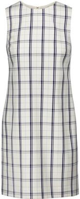 Theory Adraya checked wool-blend mini dress $345 thestylecure.com