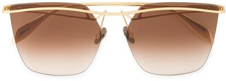 Alexander McQueen Eyewear tinted bar sunglasses