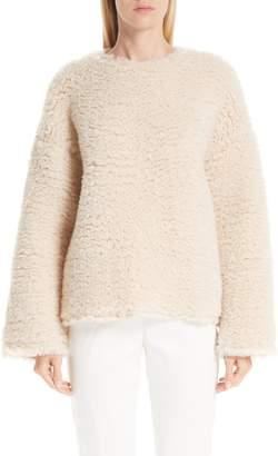Mansur Gavriel Fuzzy Cashmere & Silk Sweater