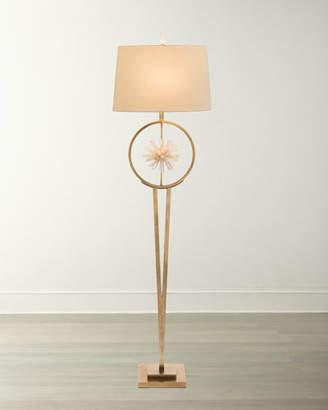 John-Richard Collection Encircled Quartz Crystal Star Floor Lamp