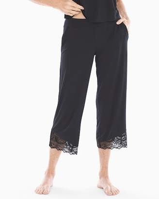 Cool Nights Lace Trim Crop Pajama Pants