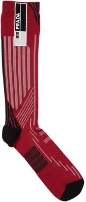 Prada Logo Jacquard Socks