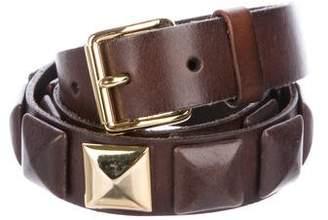 Linea Pelle Leather Embellished Belt
