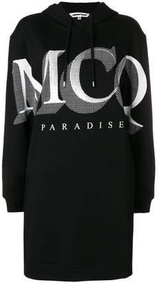 McQ Paradise logo hoodie dress