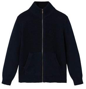 MANGO Zipped cotton cardigan