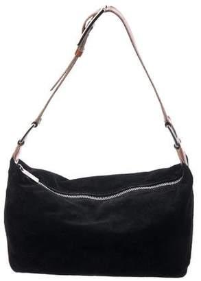 Celine Embossed Suede Shoulder Bag