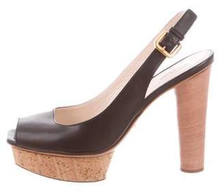 Prada High-Heel Slingback Sandals