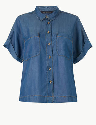 30d70118abdc2 Marks and Spencer Button Detailed Short Sleeve Shirt