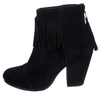 Rag & Bone Fringe Suede Ankle Boots