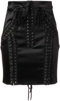 Dolce & Gabbana lace-up high-waisted skirt