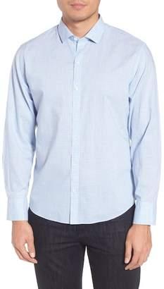 Zachary Prell McGarry Gingham Print Slim Fit Sport Shirt