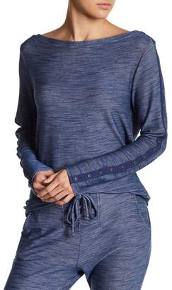 Green Dragon Boatneck Grommet Pullover