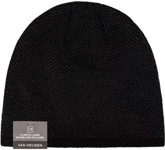 Van Heusen Men's Herringbone Fleece-Lined Hat