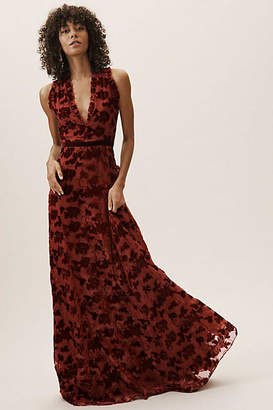 Anthropologie Yara Velvet Burnout Wedding Guest Dress