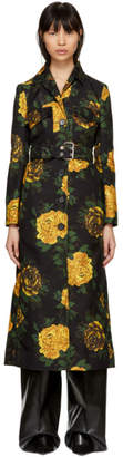Kwaidan Editions Multicolor Floral Print Trench Coat