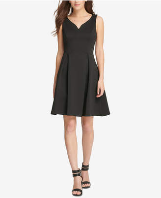 DKNY Sweetheart Scuba Fit & Flare Dress