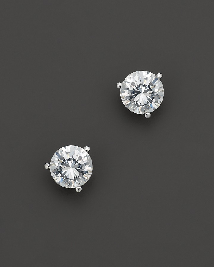 Certified Diamond Stud Earrings in Platinum, 2.5 ct. t.w.