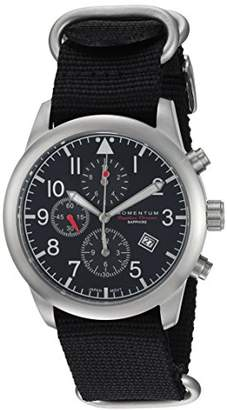 Momentum Men's Chronograph Collection Stainless Steel Japanese-Quartz Watch with Nylon Strap