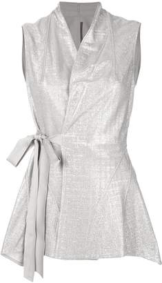 Rick Owens Lilies wrap-style top