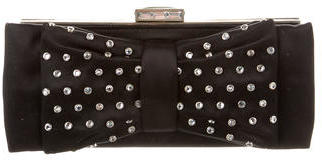 Judith Leiber Satin Embellished Clutch $345 thestylecure.com