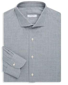 Boglioli Slim-Fit Plaid Cotton Dress Shirt
