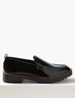 Marks and Spencer Leather Cleat Sole Loafers