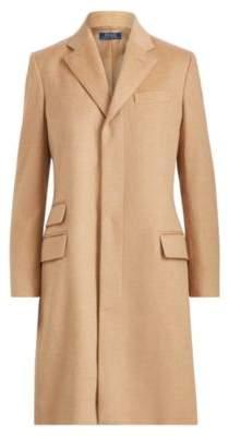 Ralph Lauren Wool-Blend Chesterfield Coat Camel 10