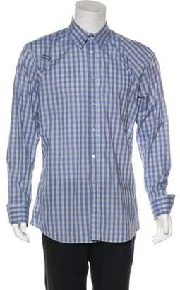 Alexander McQueen Gingham Harness Shirt