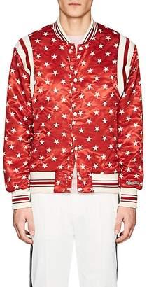 Ovadia & Sons Men's Star-Print Satin Bomber Jacket