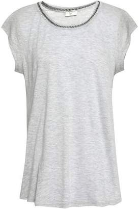 Joie Damani Chain-Trimmed Linen And Modal-Blend Jersey T-Shirt