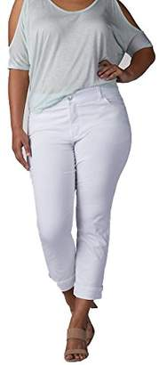 Lee Women's Plus Size Midrise Total Freedom Kilee Capri Jean