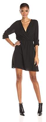 Everly Women's Rolled Up 3/4 Sleeve Dress $15 thestylecure.com