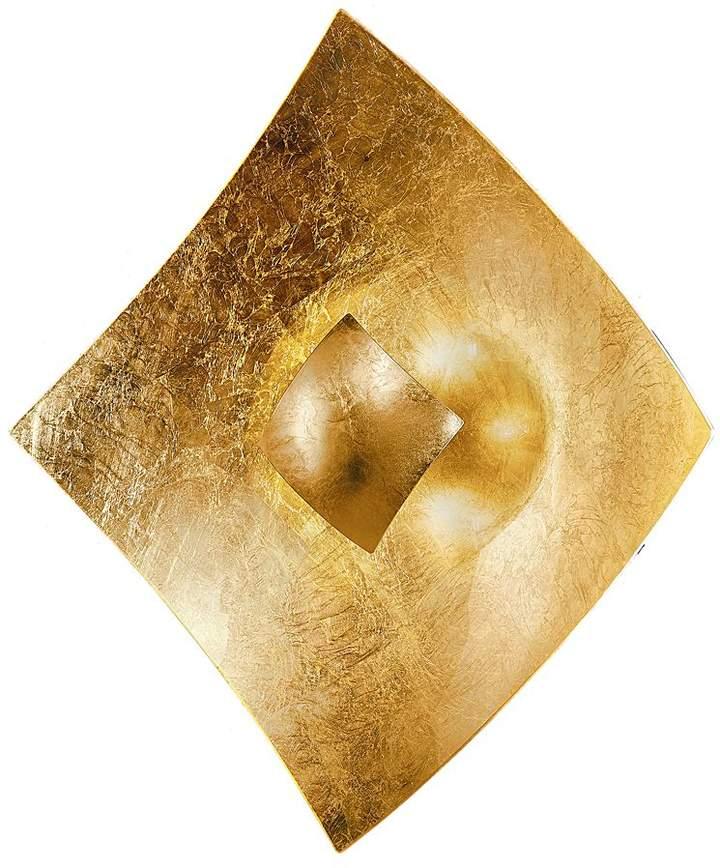 Hans Kögl EEK A, Wandleuchte Quadrangolo Gold