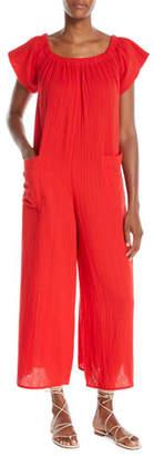 Mara Hoffman Blanche Wide-Leg Organic-Cotton Jumpsuit Coverup