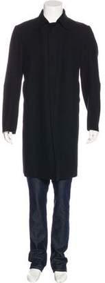 CNC Costume National Wool Raw-Edge Coat