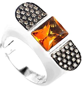 Diamond Select Cuts 18K .35 Ct. Tw. Diamond & Citrine Ring
