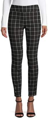 INC International Concepts Windowpane Plaid Skinny Pants