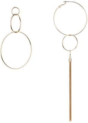 Lord & Taylor Design Lab Thin Hoop Tassel Earrings